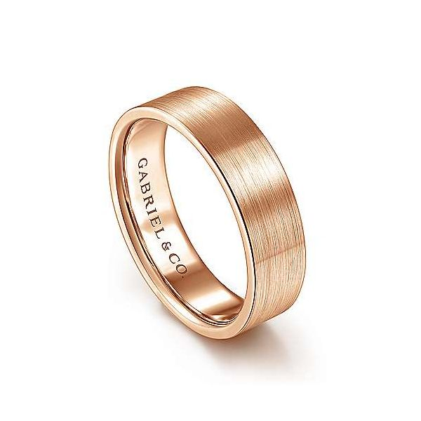 Steven Satin Finish Mens Wedding Band Image 2 Carter's Jewelry, Inc. Petal, MS