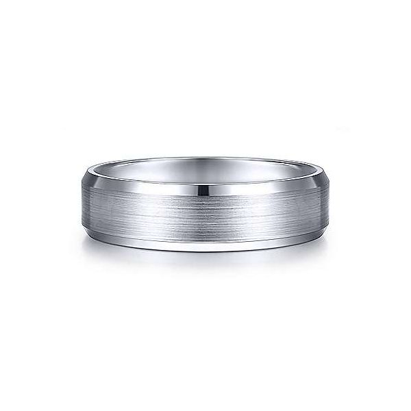 Caleb Rounded Satin Center and Polished Beveled Edge Mens Wedding Band Carter's Jewelry, Inc. Petal, MS