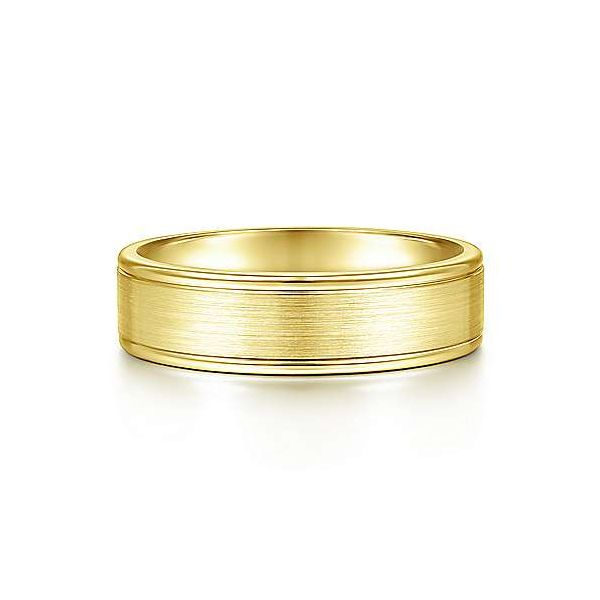 Landon Satin Center and Polished Edge Mens Wedding Band Carter's Jewelry, Inc. Petal, MS