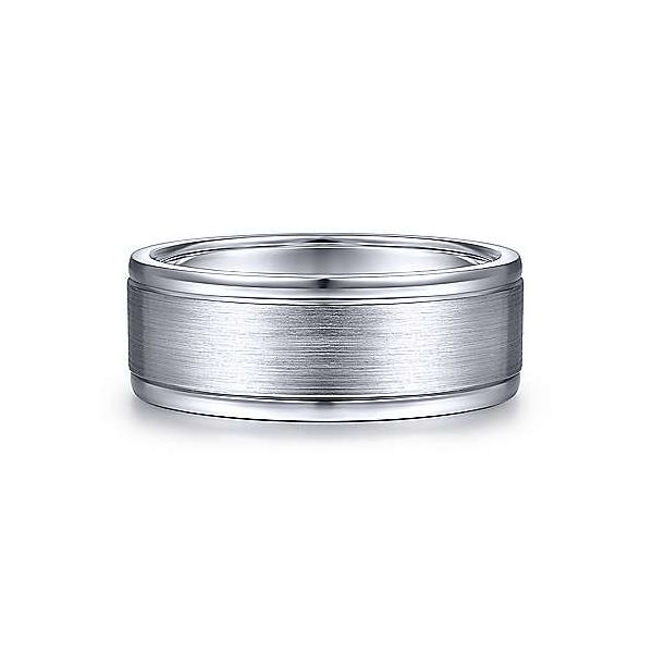 Emmett Satin Center and Polished Edge Mens Wedding Band Carter's Jewelry, Inc. Petal, MS