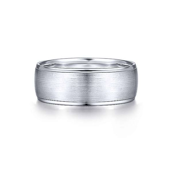 Nathaniel Satin Center and Polished Edge Mens Wedding Band Carter's Jewelry, Inc. Petal, MS