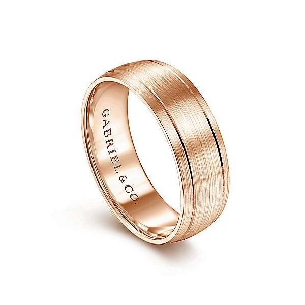 Andrew Satin Finish Mens Wedding Band Image 2 Carter's Jewelry, Inc. Petal, MS
