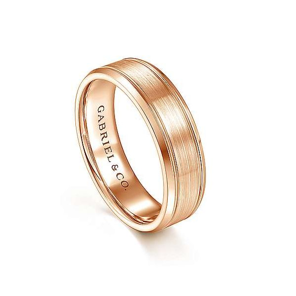 Charles Satin Channel Polished Edge Mens Wedding Band Image 2 Carter's Jewelry, Inc. Petal, MS