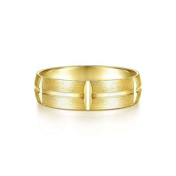 Levi Linear Engraved Stations Mens Wedding Band Carter's Jewelry, Inc. Petal, MS