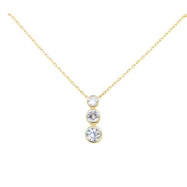 Sterling Silver 3 Bezel Necklace Confer's Jewelers Bellefonte, PA