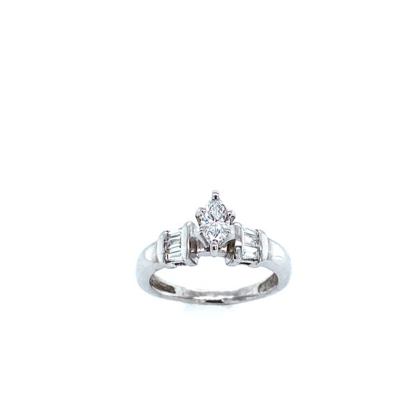 White Gold Marquise Engagement Ring Image 2 Confer's Jewelers Bellefonte, PA
