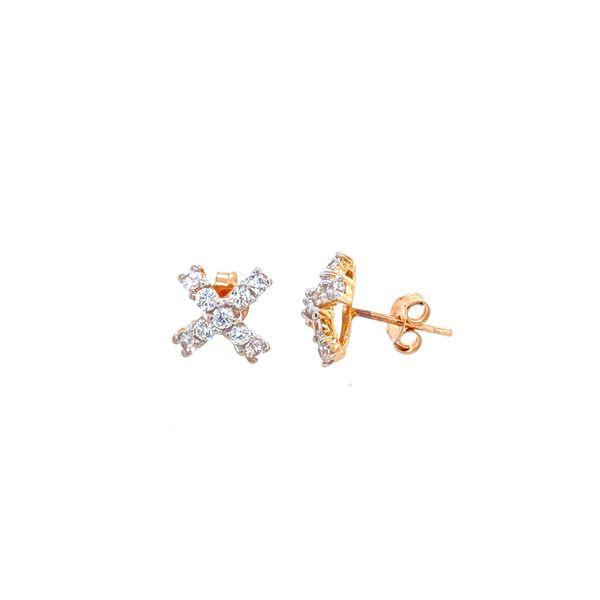 Yellow Gold CZ Earrings Confer's Jewelers Bellefonte, PA