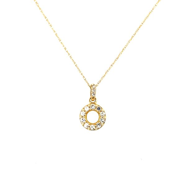 14k Yellow Gold Halo Style Diamond Pendant Confer's Jewelers Bellefonte, PA