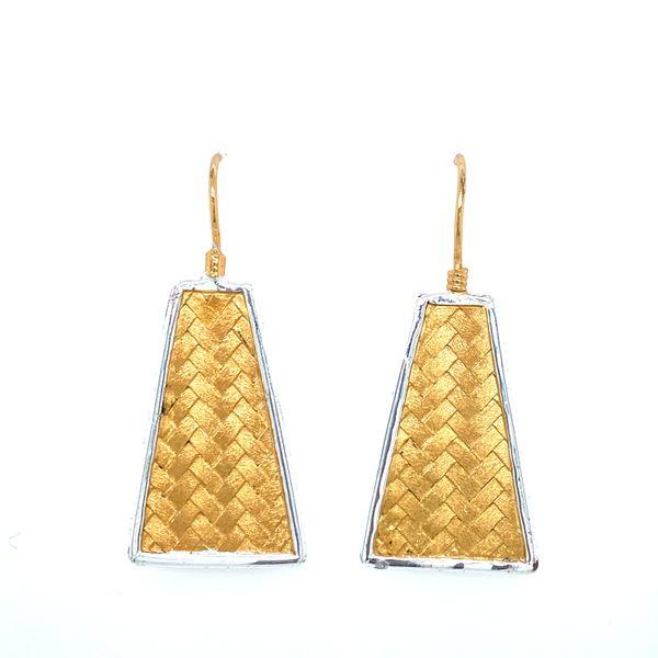 Sterling Silver Basketweave Dangle Earrings Confer's Jewelers Bellefonte, PA
