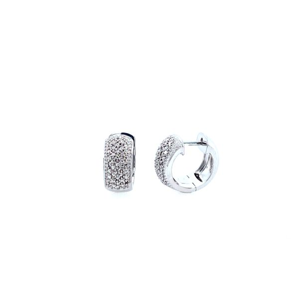 Sterling Silver and Diamond Huggie Hoops Confer's Jewelers Bellefonte, PA