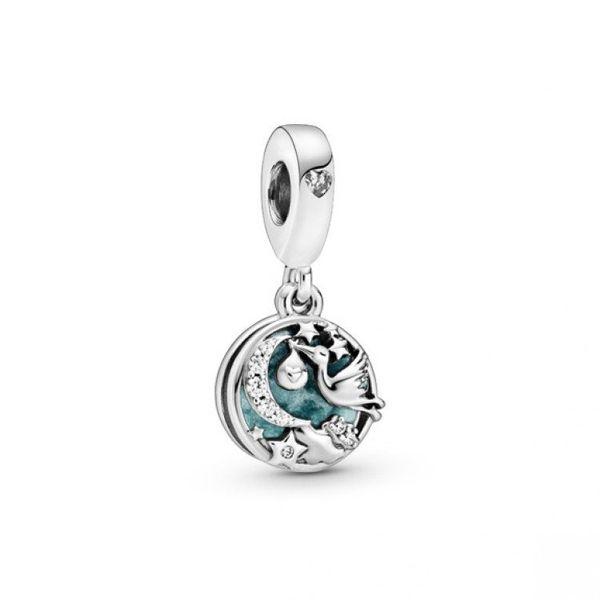 Stork & Twinkling Stars Dangle Charm Confer's Jewelers Bellefonte, PA
