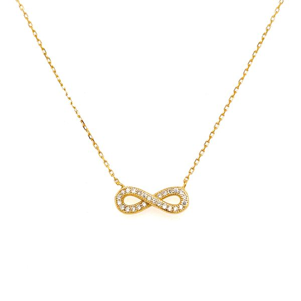 Yellow Gold Plated Infinity Pendant Confer's Jewelers Bellefonte, PA