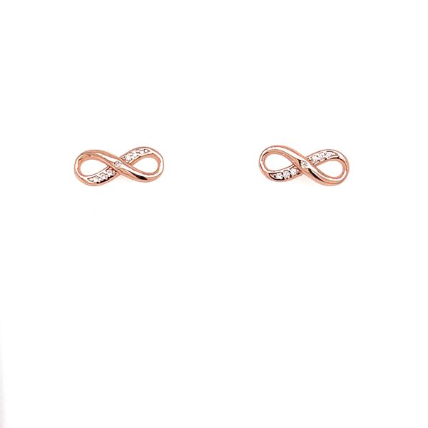 Rose Gold Plated Infinity Earrings Confer's Jewelers Bellefonte, PA
