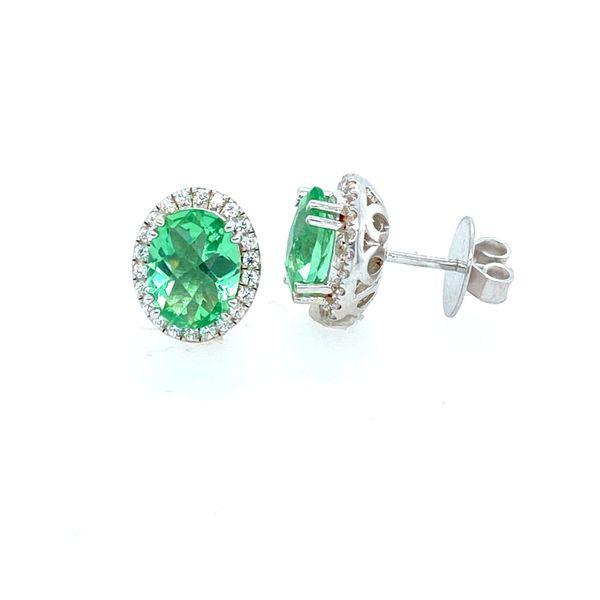 Green Amethyst Sterling Silver Earrings Confer's Jewelers Bellefonte, PA