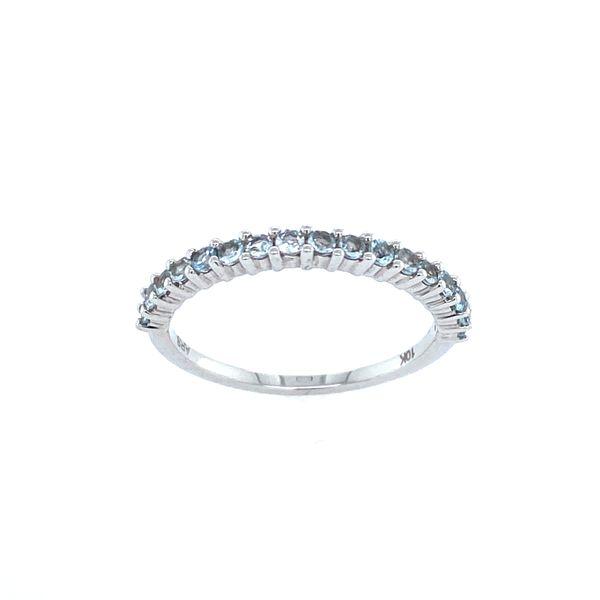 10k White Gold Aquamarine Band Confer's Jewelers Bellefonte, PA