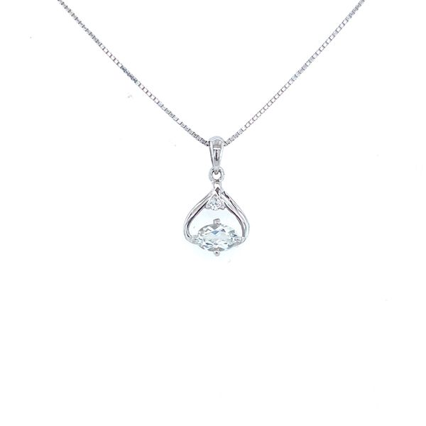 Sterling Silver White Topaz and Diamond Pendant Confer's Jewelers Bellefonte, PA