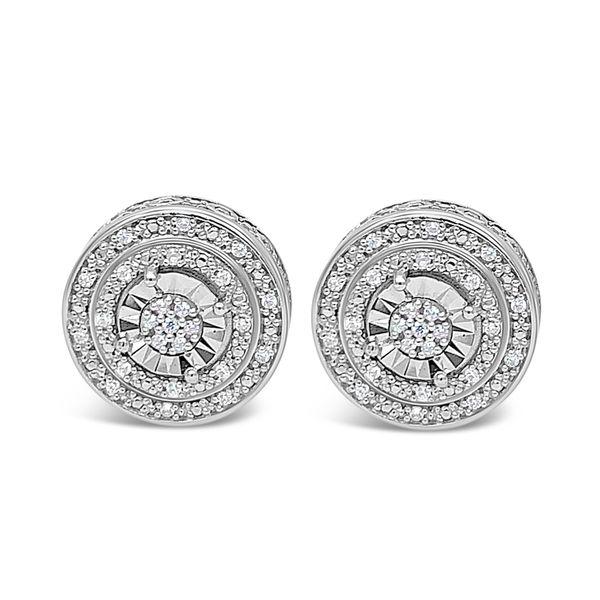 Sterling Silver Diamond Earrings Confer's Jewelers Bellefonte, PA