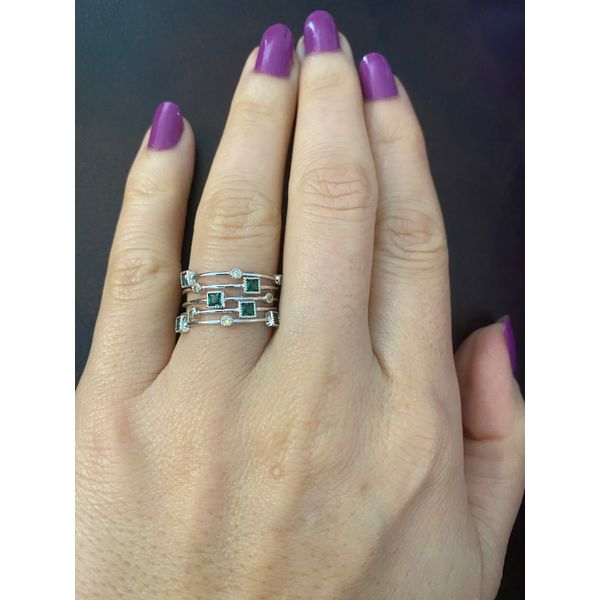 Sterling Silver Green Ice Fashion Ring Confer's Jewelers Bellefonte, PA