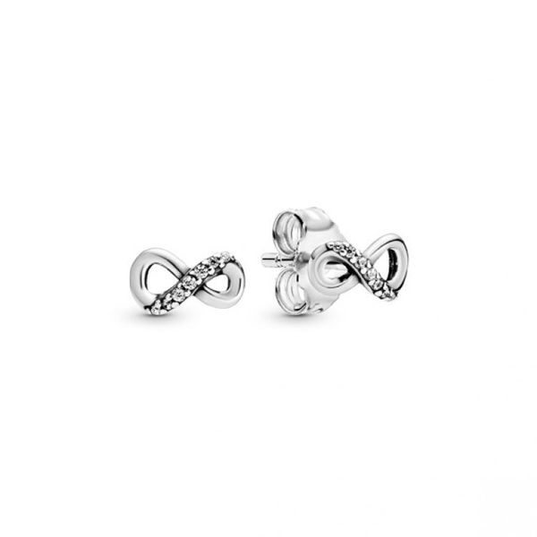 Sparkling Infinity Stud Earrings Confer's Jewelers Bellefonte, PA