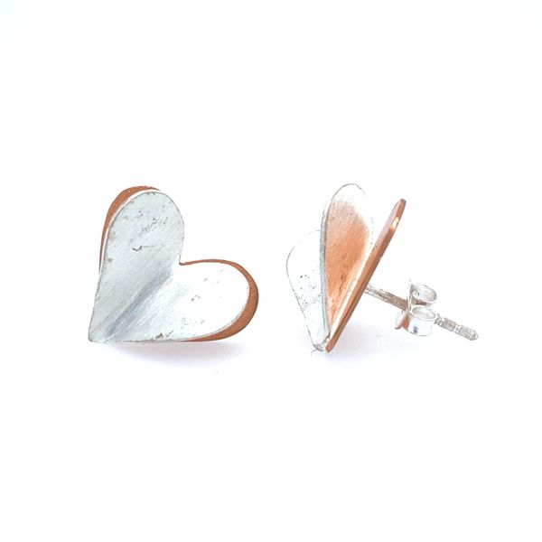 Sterling Silver Heart Earrings Confer's Jewelers Bellefonte, PA
