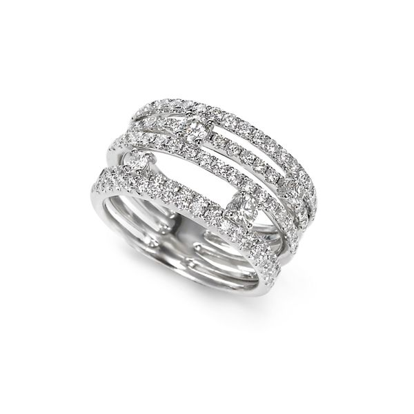 18K White Gold and Platinum Diamond Fashion Ring Confer's Jewelers Bellefonte, PA