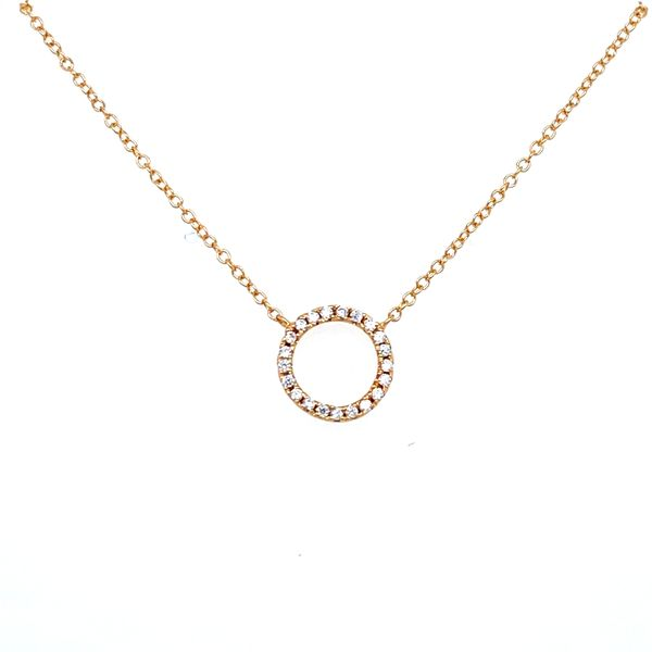 Sterling Silver Circle Necklace Image 2 Confer's Jewelers Bellefonte, PA