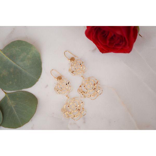 Sterling Silver Flower Dangle Earrings Confer's Jewelers Bellefonte, PA