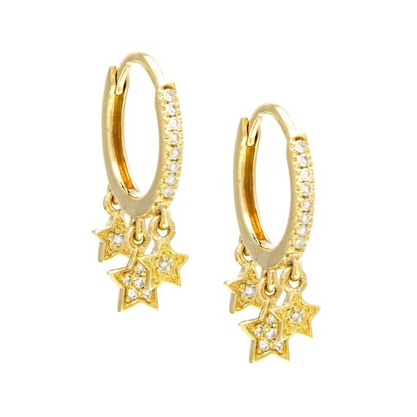 Star Dangle Huggie Hoops Confer's Jewelers Bellefonte, PA