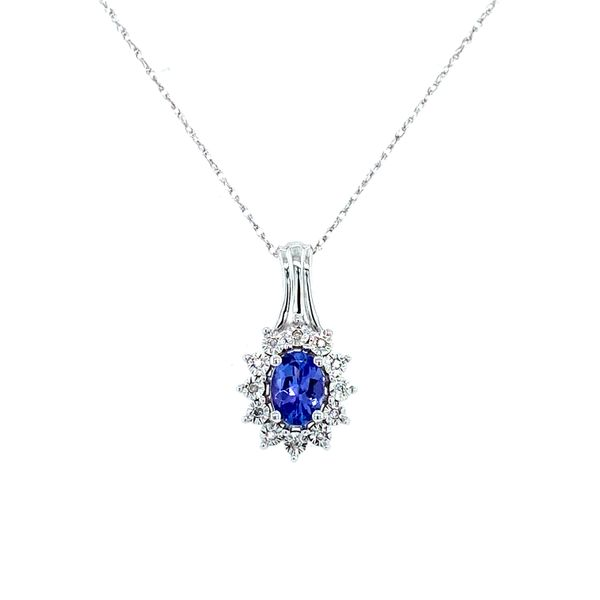 Sterling Silver Tanzanite and Diamond Pendant Confer's Jewelers Bellefonte, PA