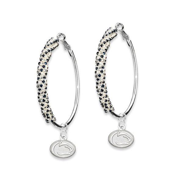 Penn State University Amped LOGO Crystal Earrings Confer's Jewelers Bellefonte, PA