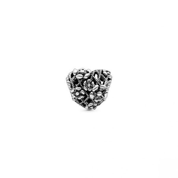 Openwork Flower Heart Mommy Charm Image 2 Confer's Jewelers Bellefonte, PA