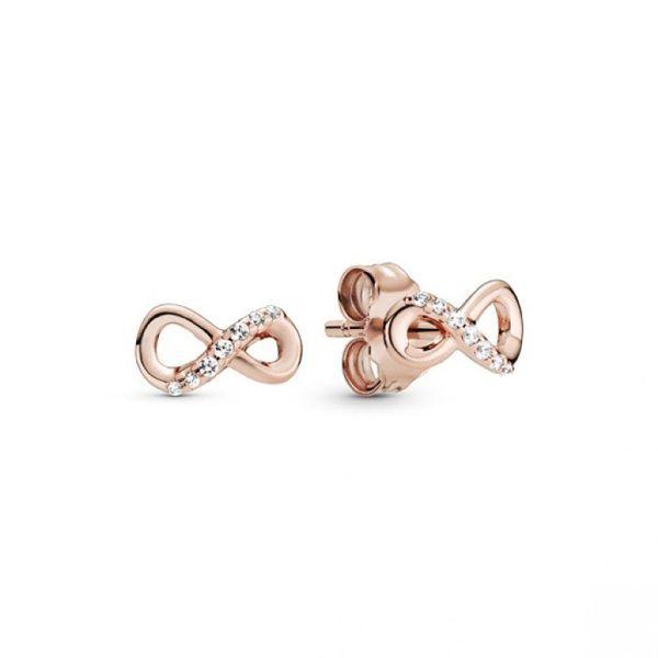 Sparkling Infinity Stud Earrings - PANDORA Rose Confer's Jewelers Bellefonte, PA