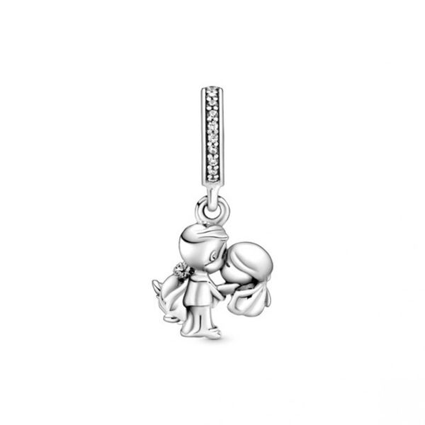 Married Couple Dangle Charm Image 2 Confer's Jewelers Bellefonte, PA