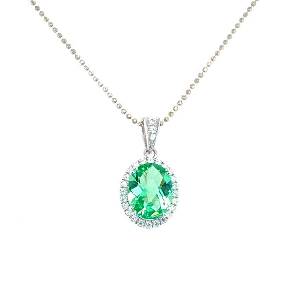 Green Amethyst Sterling Silver Necklace Confer's Jewelers Bellefonte, PA