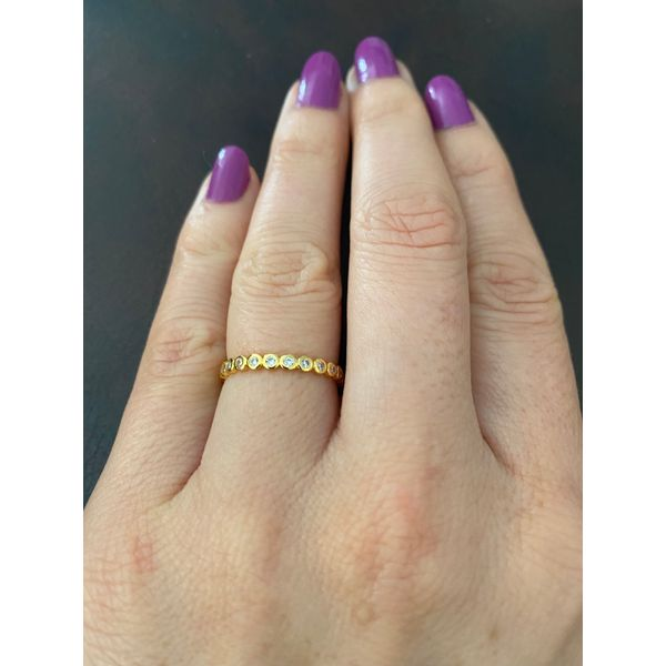 Sterling Silver Yellow Gold Plated Eternity CZ Stackable Band Confer's Jewelers Bellefonte, PA