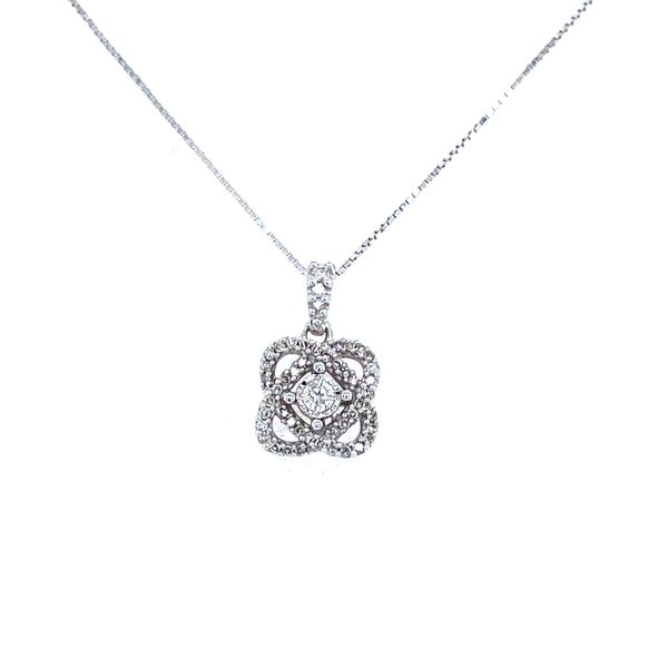 10K White Gold and Diamond 'My Love Surrounds You' Pendant Confer's Jewelers Bellefonte, PA