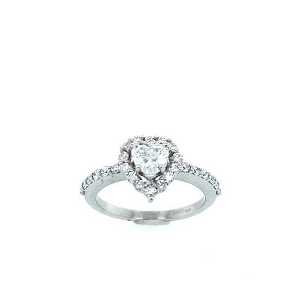 14k White Gold Heart Halo Diamond Engagement Ring Confer's Jewelers Bellefonte, PA