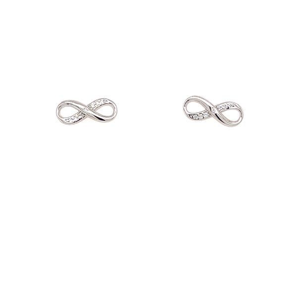 Sterling Silver Infinity Stud Earrings Confer's Jewelers Bellefonte, PA