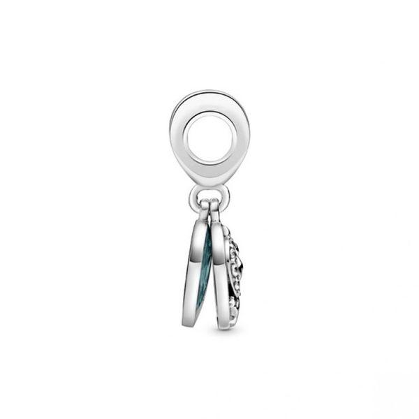 Stork & Twinkling Stars Dangle Charm Image 3 Confer's Jewelers Bellefonte, PA