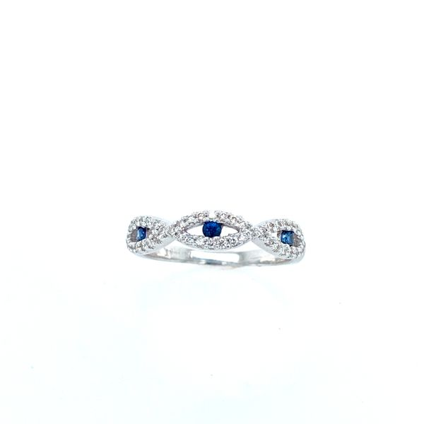 14k White Gold Diamond and Sapphire Band Confer's Jewelers Bellefonte, PA