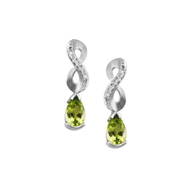 14K Peridot & Diamond Earrings Confer's Jewelers Bellefonte, PA