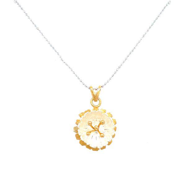 Sterling Silver Flower Necklace Confer's Jewelers Bellefonte, PA