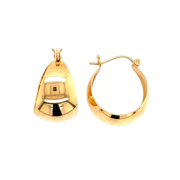 Yellow Gold Wide Hoops Confer's Jewelers Bellefonte, PA