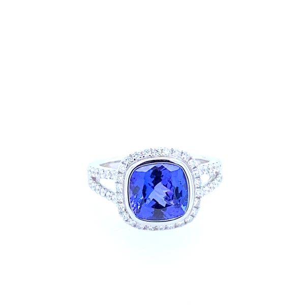18K White Gold Tanzanite and Diamond Ring Confer's Jewelers Bellefonte, PA