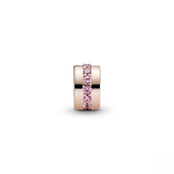 Pink Sparkling Row Clip - PANDORA Rose Image 2 Confer's Jewelers Bellefonte, PA