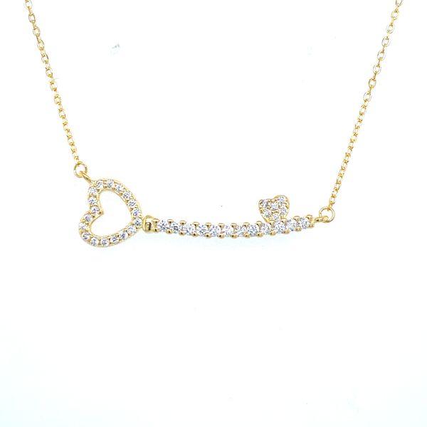 Sterling Silver Key Necklace Confer's Jewelers Bellefonte, PA