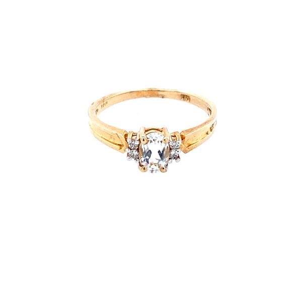 10k Yellow Gold White Topaz Confer's Jewelers Bellefonte, PA