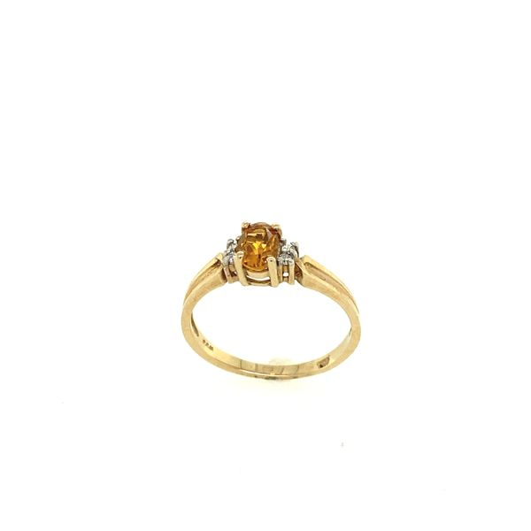 10K Yellow Gold Citrine and Diamond Ring Confer's Jewelers Bellefonte, PA