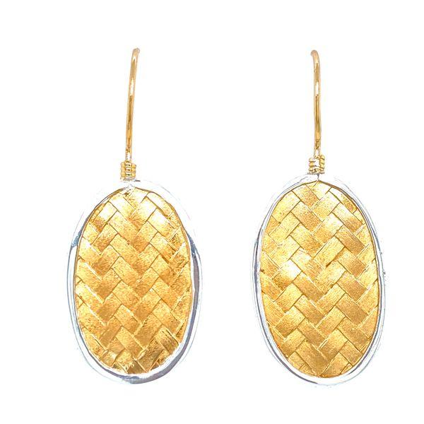 Sterling Silver Basket Weave Dangle Earrings Confer's Jewelers Bellefonte, PA