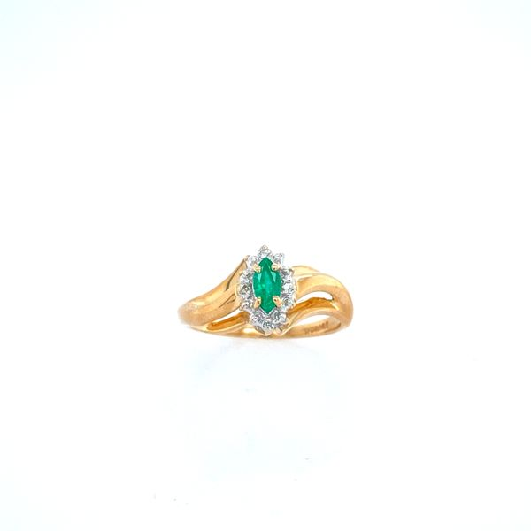 Emerald Halo Ring Confer's Jewelers Bellefonte, PA